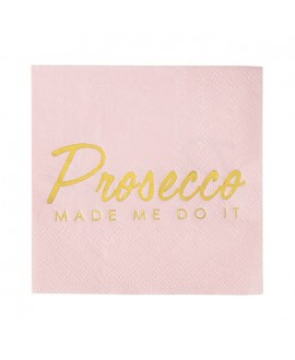 "Talking Tables ""Prosecco Made Me Do It"" serviettes (16st)"
