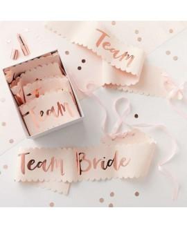 Écharpe en or rose Team bride