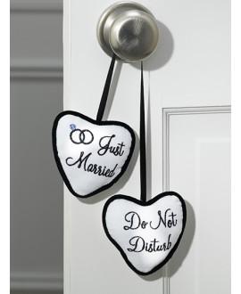 Just Married / Do Not Disturb affichette de porte