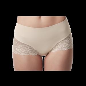 Poirier 15-925 Nude Short à dentelle taille moyenne