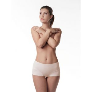 Poirier 18-925 Nude Short sans couture taille moyenne