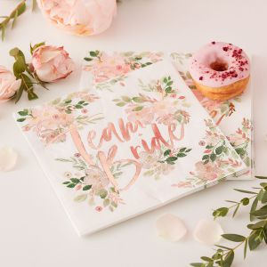 Ginger Ray FH-205 Floral Hen Serviettes