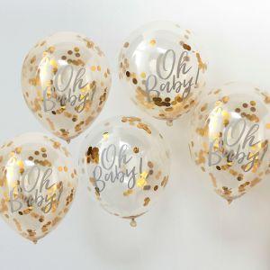 Ginger Ray OB-108 Oh Baby Ballons de Confettis