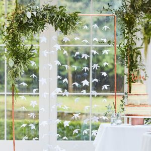 Ginger Ray BR-305 Botanical Wedding Backdrop Origami Fleurs