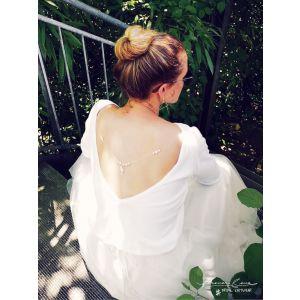 Jersey de mariée avec encolure au dos P5303 Forever & Eva