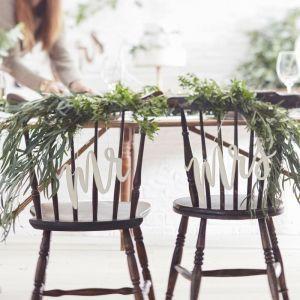 Mr. et Mrs. écriteau en bois | Ginger Ray