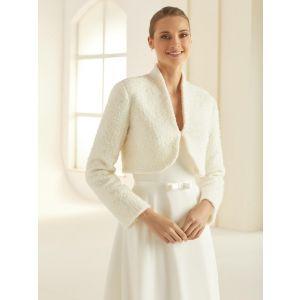 Boléro en laine de haute qualité E293 Bianco Evento
