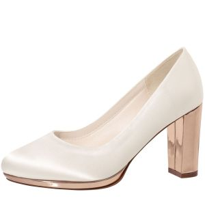 Rainbow Club Clair Chaussure Mariage Ivoire Rose Gold