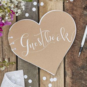 Livre d'or coeur | Rustic Country