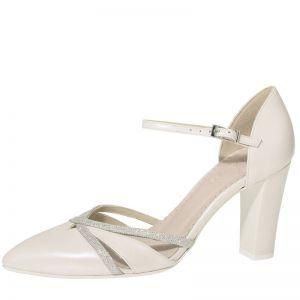 Fiarucci Bridal Florine Chaussures de mariée ivoire cuir