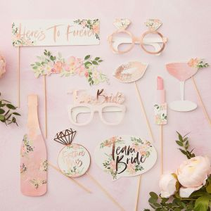 Ginger Ray FH-210 Floral Hen Accessoires Photobooth