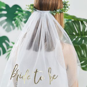 Ginger Ray BS-421 Botanical Hen Bride to Be Voile