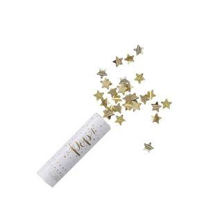 Canon à confettis d'or - Metallic Star