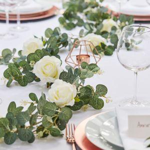 Ginger Ray BR-308 Botanical Wedding Guirlande de Roses Eucalyptus