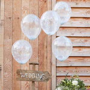 Ginger Ray CW-260 Rustic Country Ballons Confettis