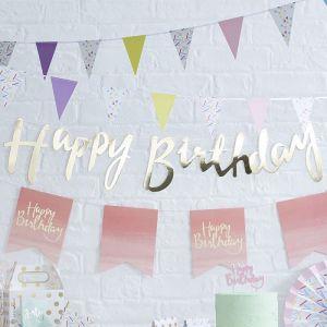 Guirlande dorée Happy Birthday | Pick & Mix