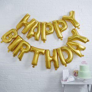 Ballons d'or Happy Birthday   Pick & Mix