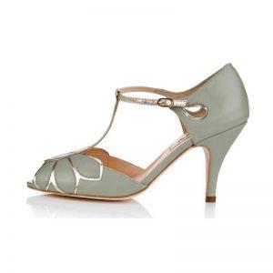 Rachel Simpson Chaussure Mariage Mimosa Menthe
