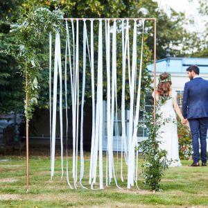 Ginger Ray BR-303 Botanical Wedding Fond de Ruban Blanc