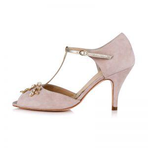 Rachel Simpson Chaussure Mariage Amalia Powder Pink