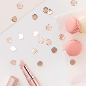 Confetti en or rose metallisé Team Bride