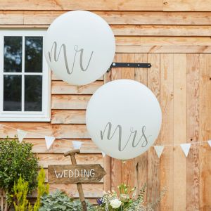 Ginger Ray CW-218 Rustic Country Mr & Mrs Méga Ballons