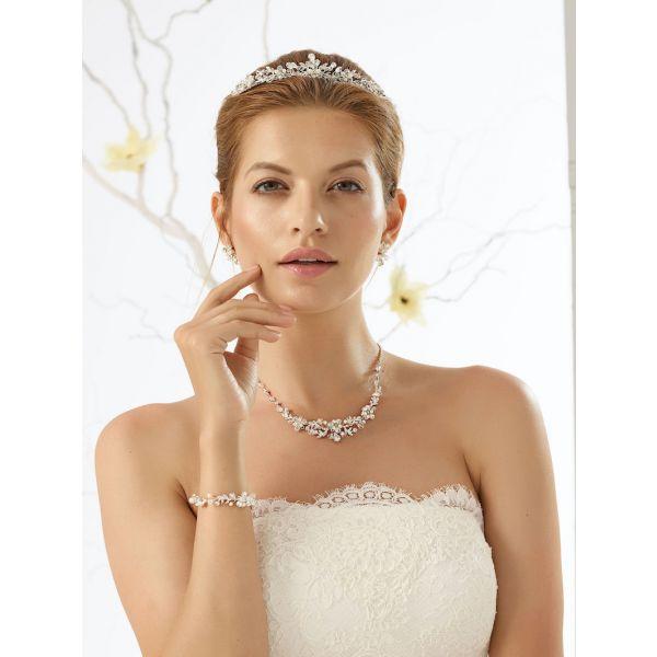 Bianco Evento Ensemble de bijoux de Mariée N27N28